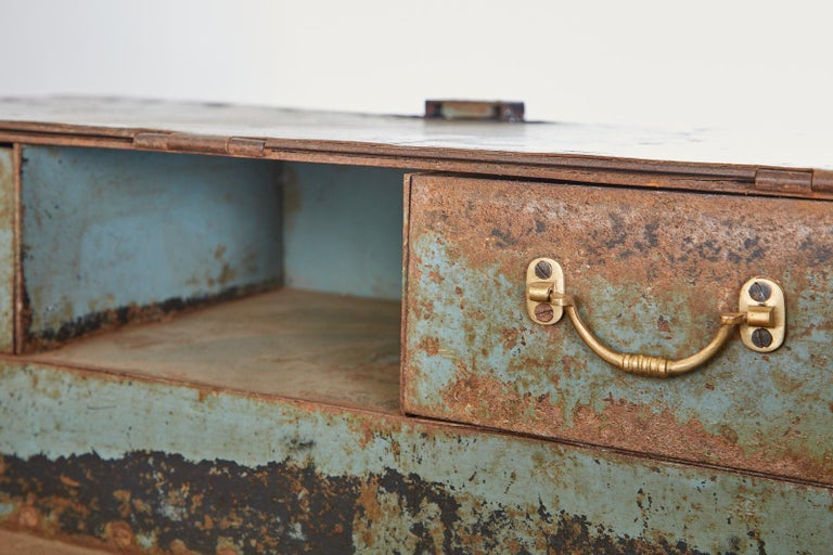 19th Century English Iron Bronze Industrial Davenport Desk For Sale 13