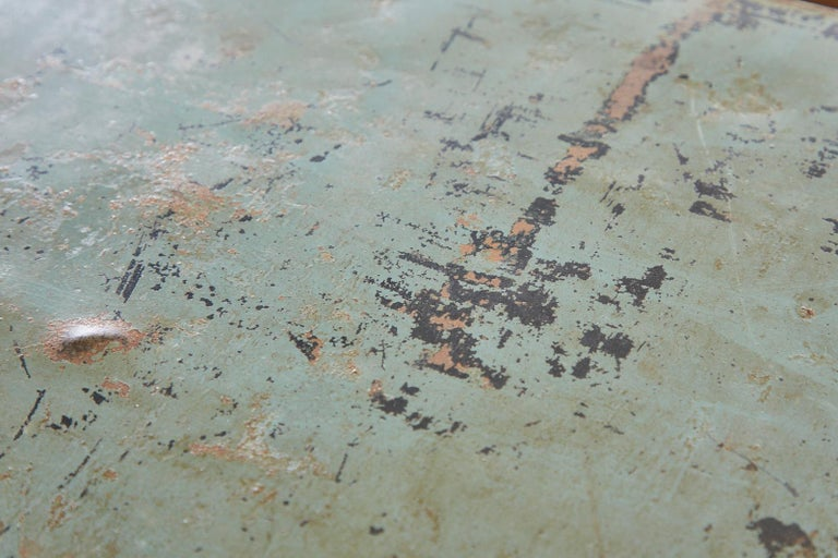 19th Century English Iron Bronze Industrial Davenport Desk For Sale 14