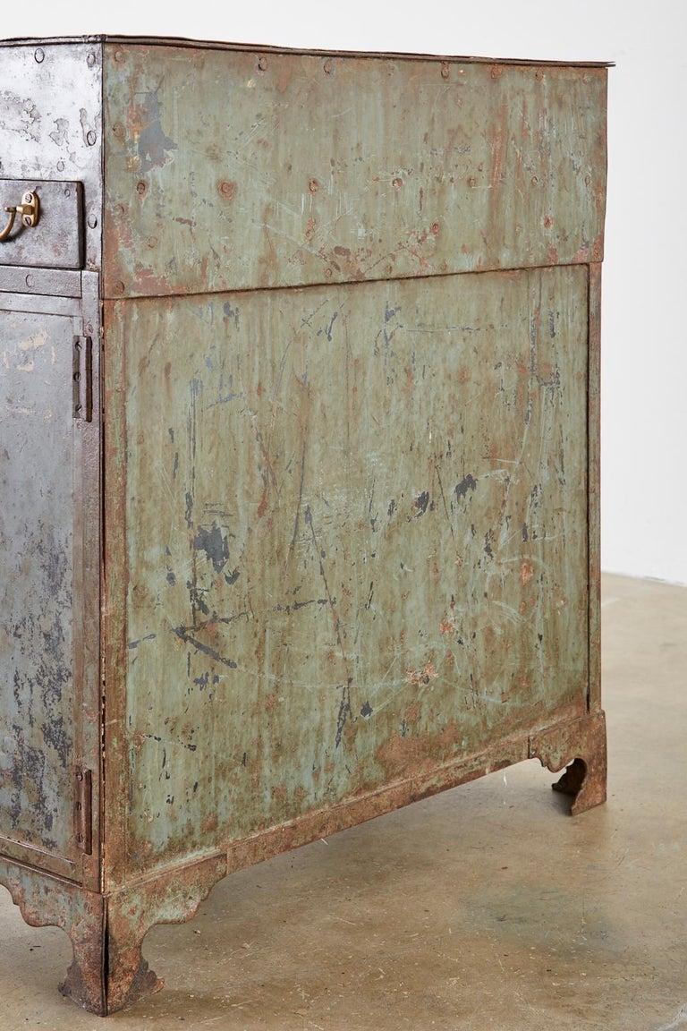 19th Century English Iron Bronze Industrial Davenport Desk For Sale 1