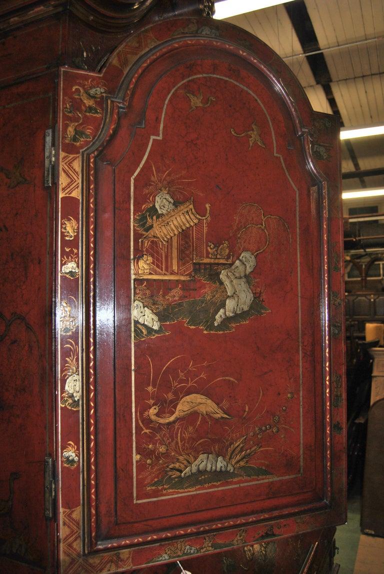 19th Century English Lacquered Gilt Chinoisoire Bookcase Secretary or Desk For Sale 8