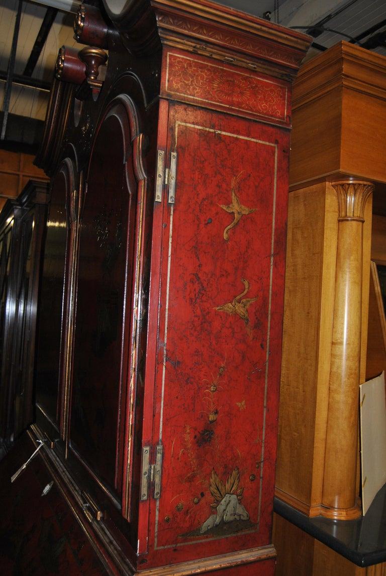 19th Century English Lacquered Gilt Chinoisoire Bookcase Secretary or Desk For Sale 10