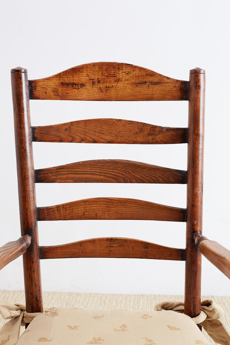 19th Century English Ladder Back Chair For Sale 5