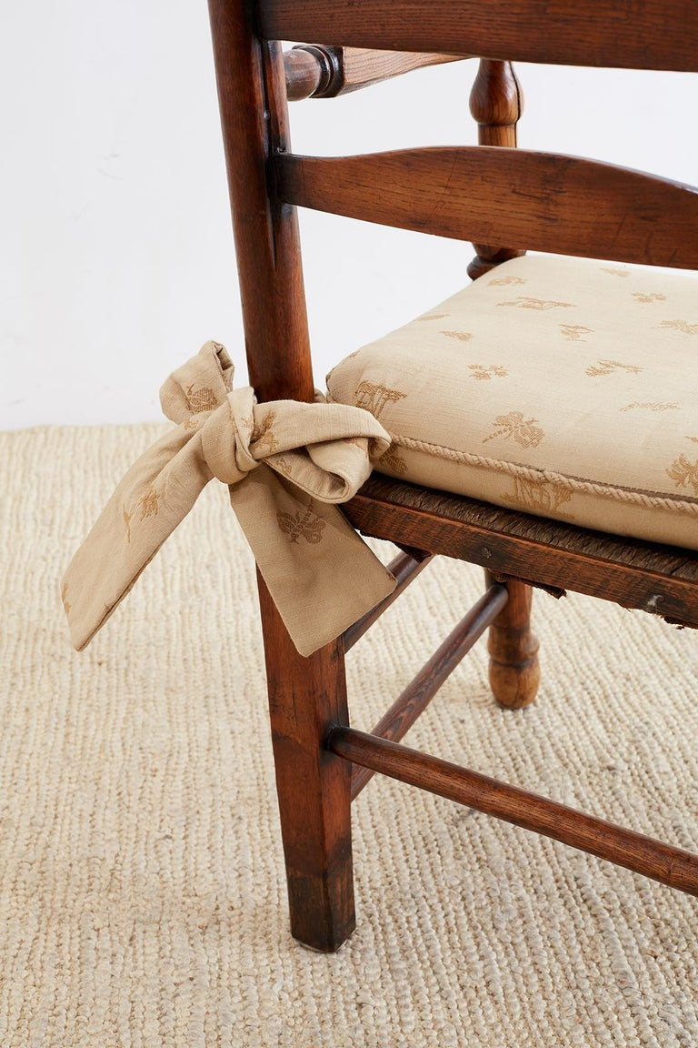19th Century English Ladder Back Chair For Sale 8