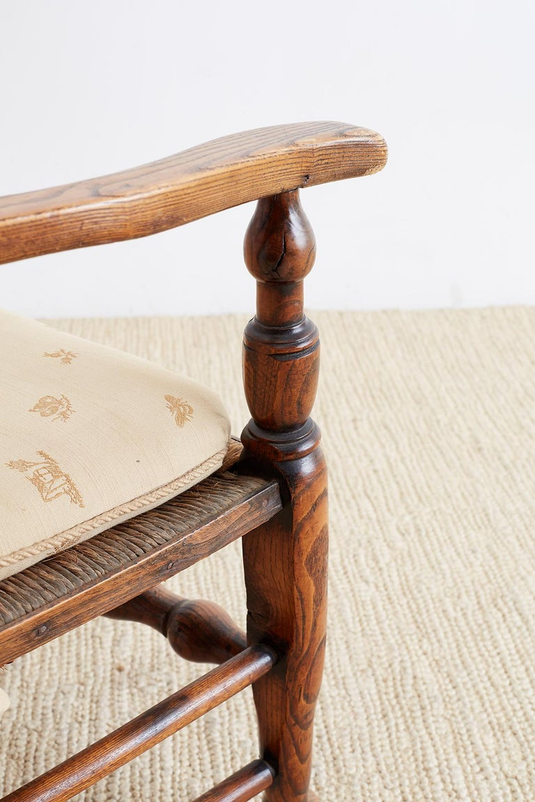 19th Century English Ladder Back Chair For Sale 9