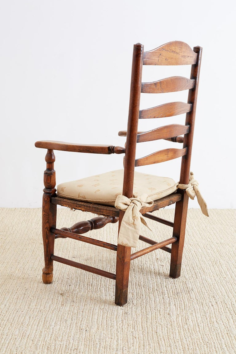 19th Century English Ladder Back Chair In Good Condition For Sale In Oakland, CA