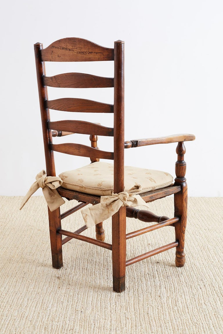 19th Century English Ladder Back Chair For Sale 1