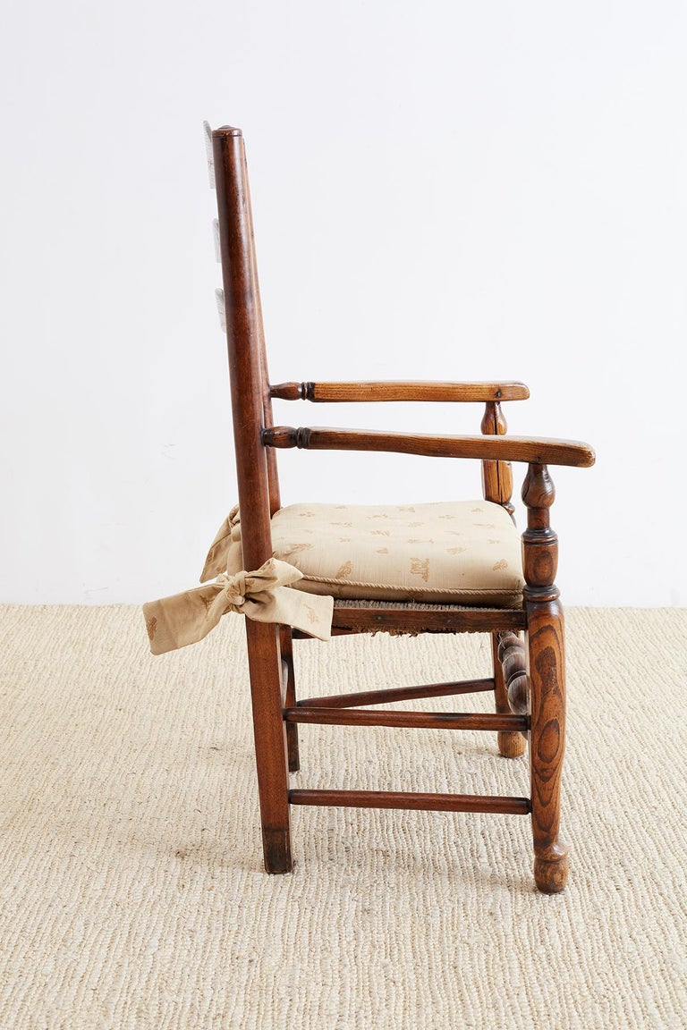 19th Century English Ladder Back Chair For Sale 2