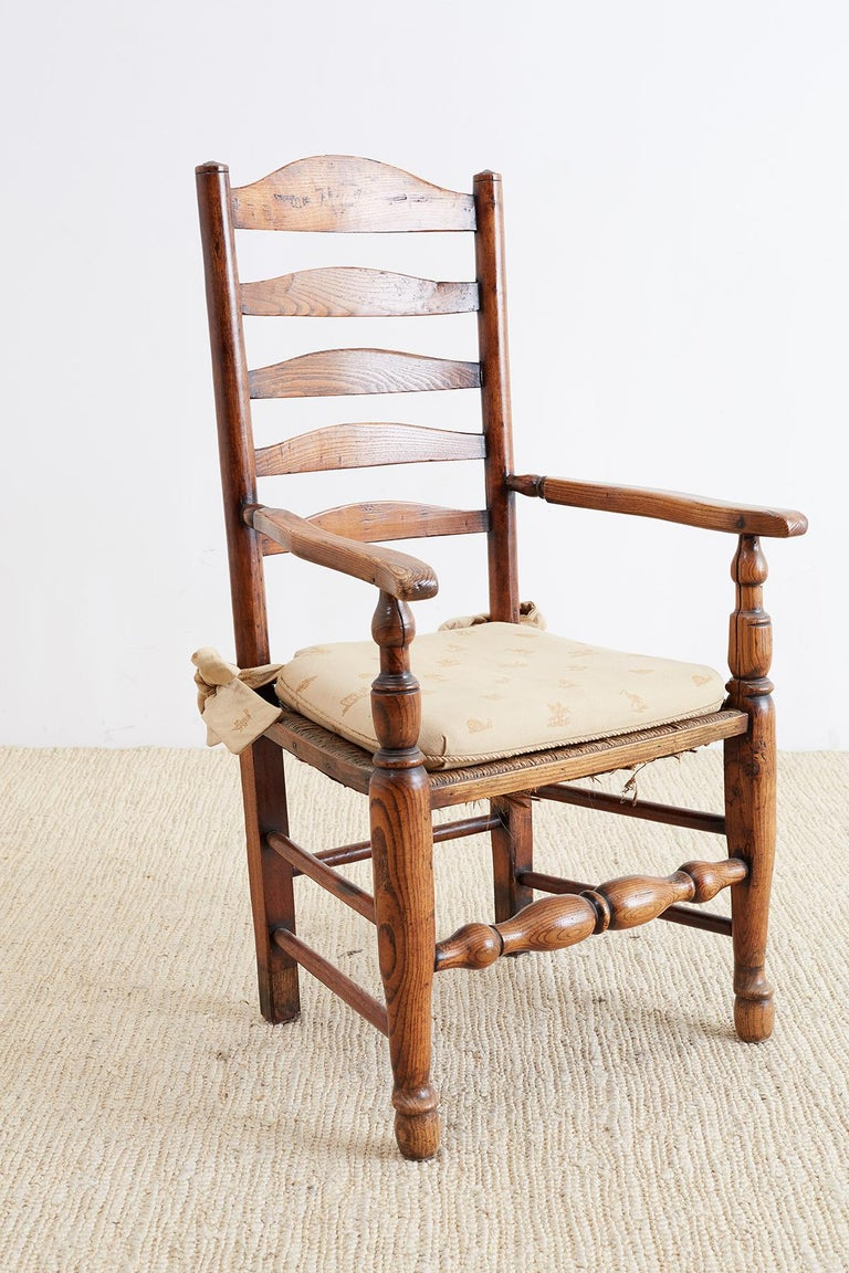 19th Century English Ladder Back Chair For Sale 3