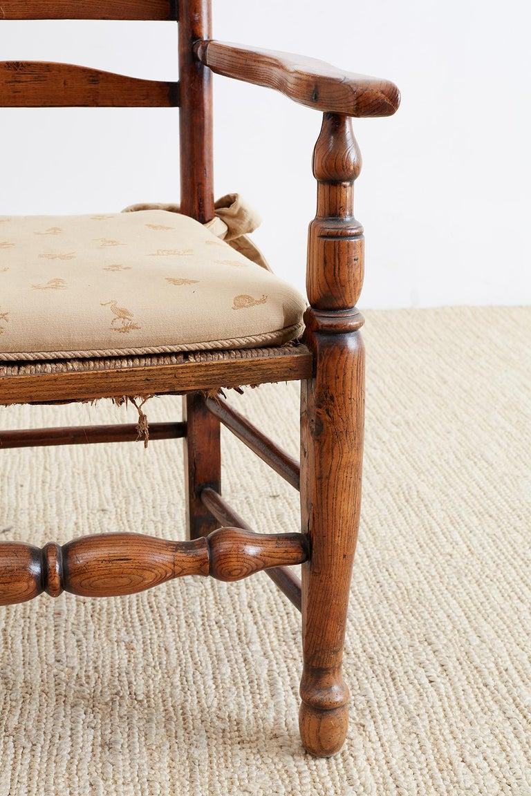 19th Century English Ladder Back Chair For Sale 4