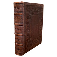 19th Century English Leather-Bound Holy Bible Dated 1866