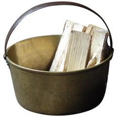 19th Century English Log Holder or Log Basket