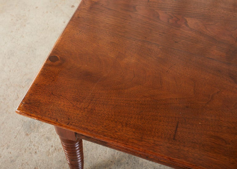 19th Century English Mahogany Bobbin Leg Console Table For Sale 5