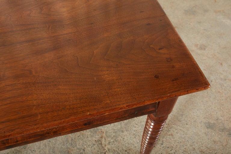 19th Century English Mahogany Bobbin Leg Console Table For Sale 6
