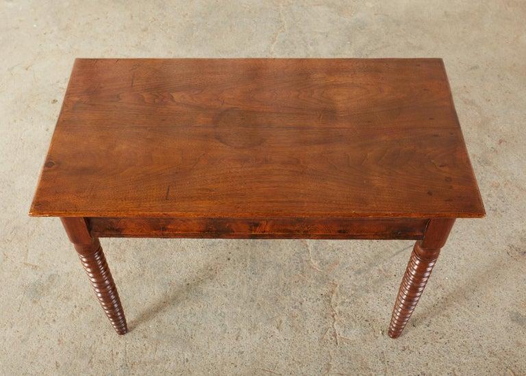 19th Century English Mahogany Bobbin Leg Console Table In Good Condition For Sale In Rio Vista, CA