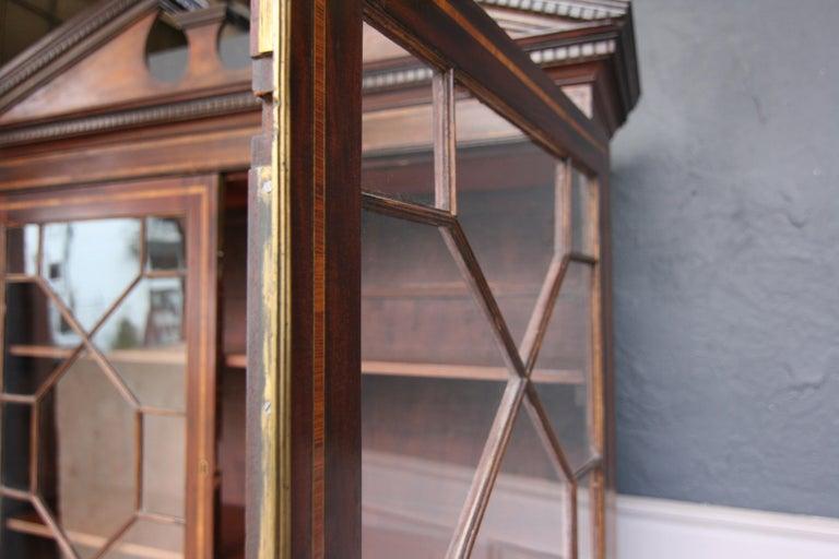 19th Century English Mahogany Bookcase Cabinet For Sale 5