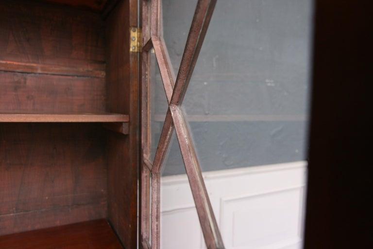 19th Century English Mahogany Bookcase Cabinet For Sale 6