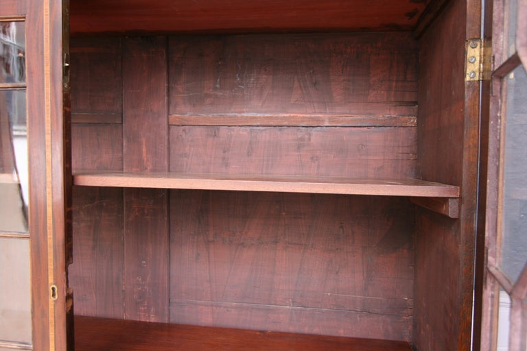 19th Century English Mahogany Bookcase Cabinet For Sale 8