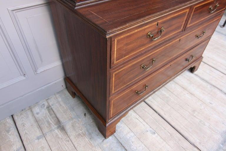 19th Century English Mahogany Bookcase Cabinet For Sale 3