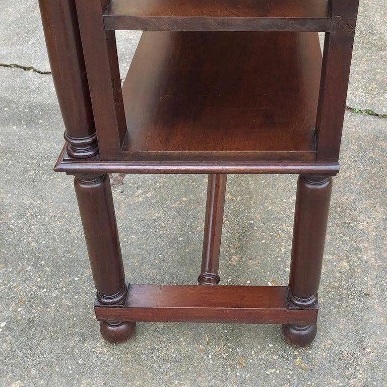19th Century English Mahogany Bookshelf For Sale 5