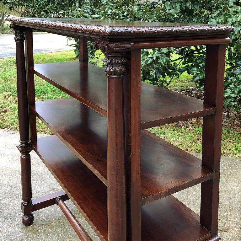 19th Century English Mahogany Bookshelf In Good Condition For Sale In Dallas, TX