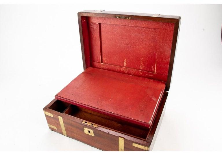 19th Century English Mahogany Campaign Travel Lap Desk 7