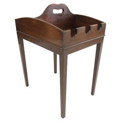 19th Century English Mahogany Cider Tray Occasional Table