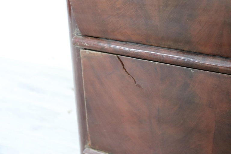 19th Century English Mahogany Commode or Tall Chest of Drawers, 1850s For Sale 4