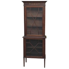 19th Century English Mahogany Curio Cabinet