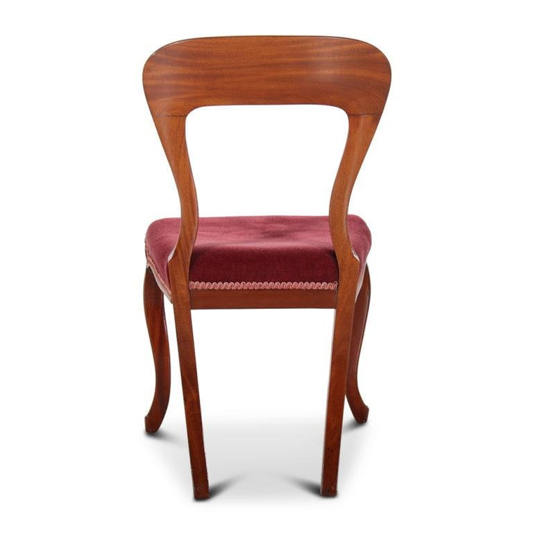 19th Century English Mahogany Dining Chairs 'Set of Six' In Good Condition For Sale In Vancouver, British Columbia