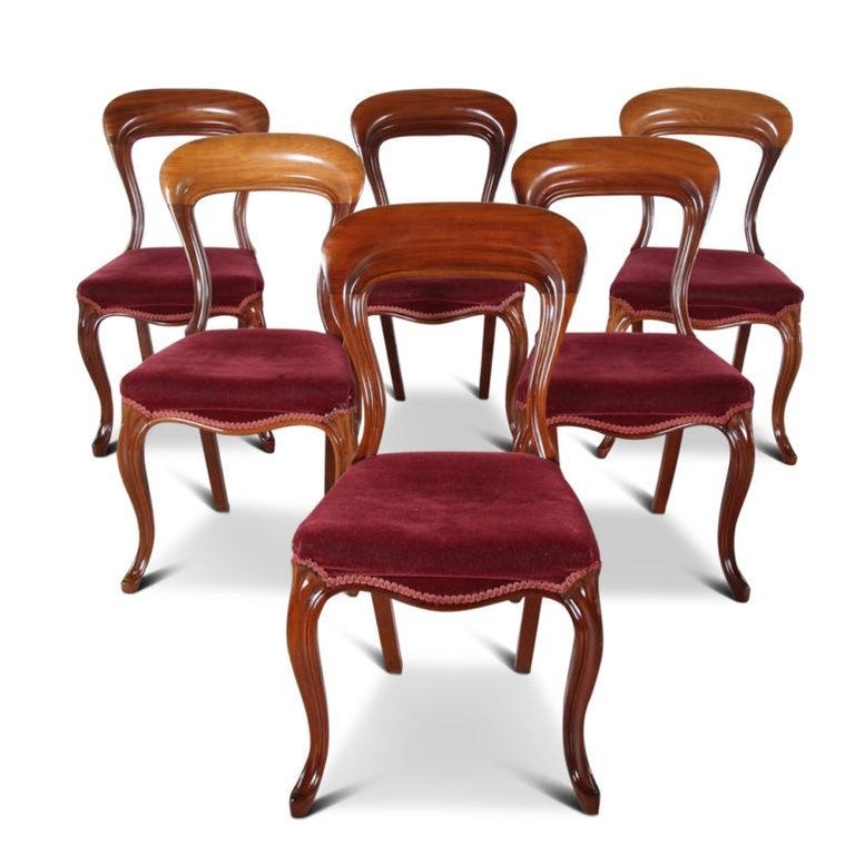 19th Century English Mahogany Dining Chairs 'Set of Six' For Sale 2