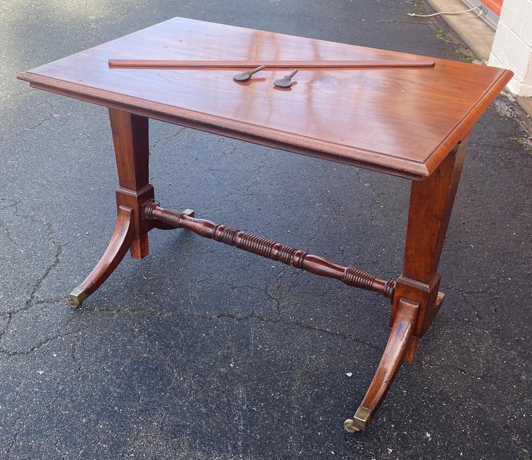 19th century English mahogany extending folio or architect's table. Great color and lines. 29.25