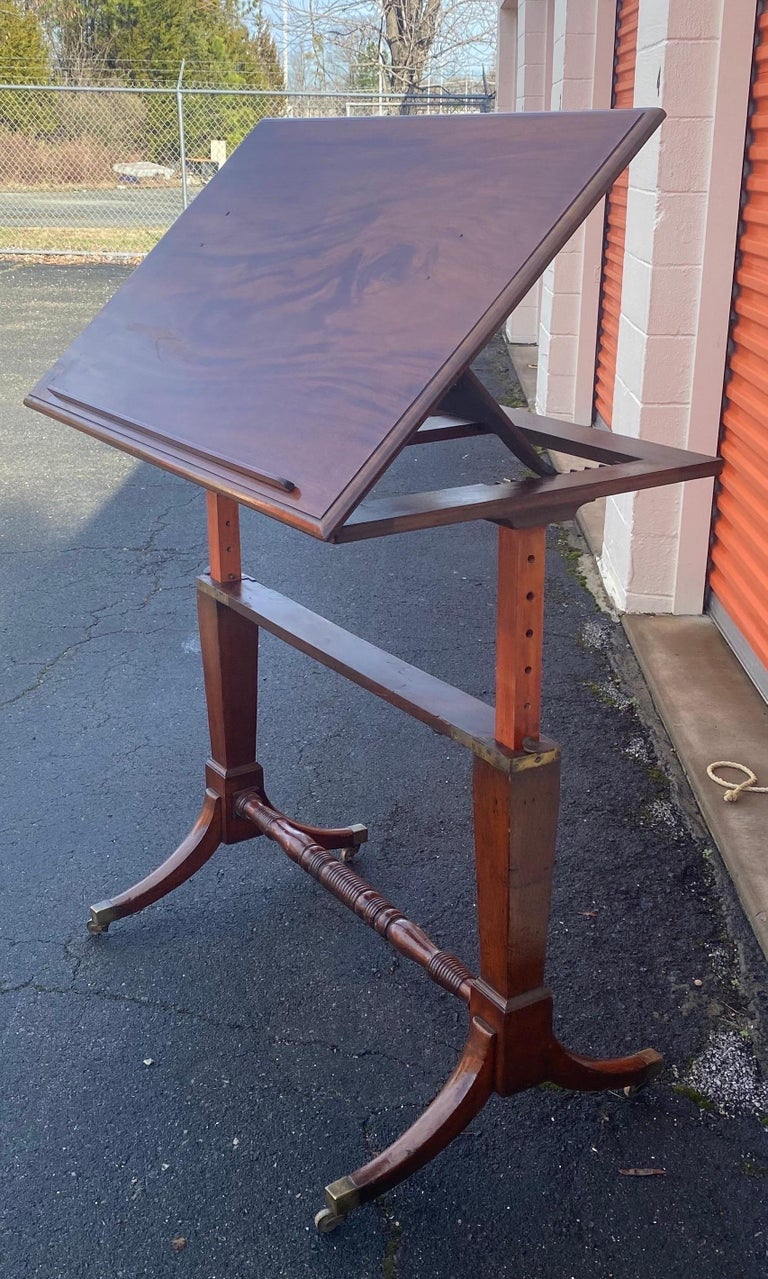 19th Century English Mahogany Extending Folio or Architect's Table In Good Condition For Sale In Charleston, SC
