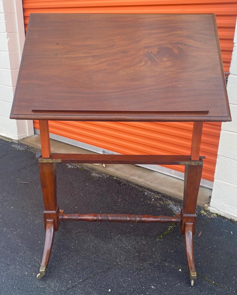 19th Century English Mahogany Extending Folio or Architect's Table For Sale 1
