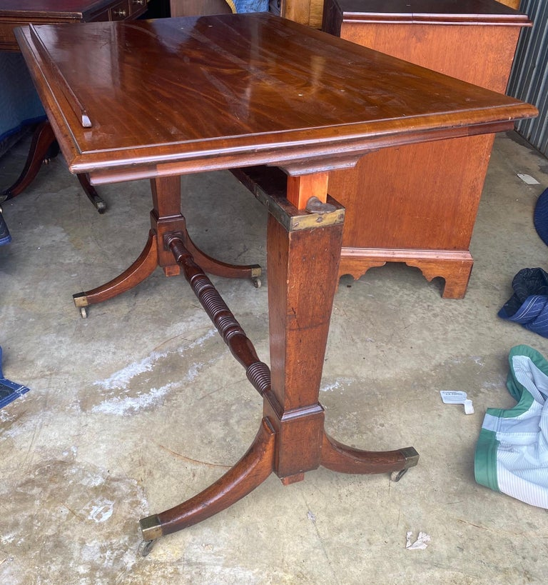 19th Century English Mahogany Extending Folio or Architect's Table For Sale 6