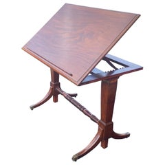 19th Century English Mahogany Extending Folio or Architect's Table