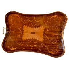 19th Century English Mahogany Inlaid Serving Tray