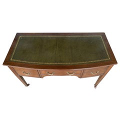 19th Century English Mahogany Leather Top Desk or Console