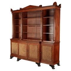 19th Century English Mahogany Library Bookcase