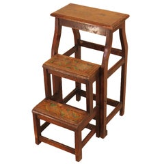 19th Century English Mahogany Metamorphic Stool Steps