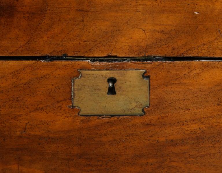 19th Century English Mahogany Military Campaign Writing Box For Sale 6
