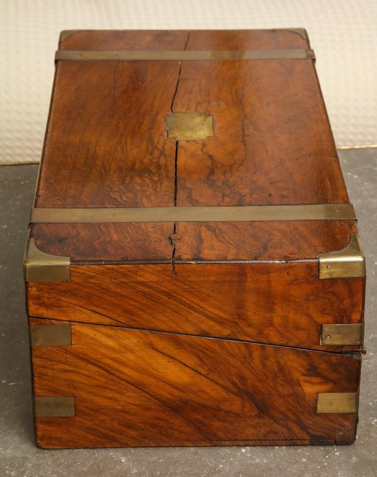 19th Century English Mahogany Military Campaign Writing Box For Sale 10