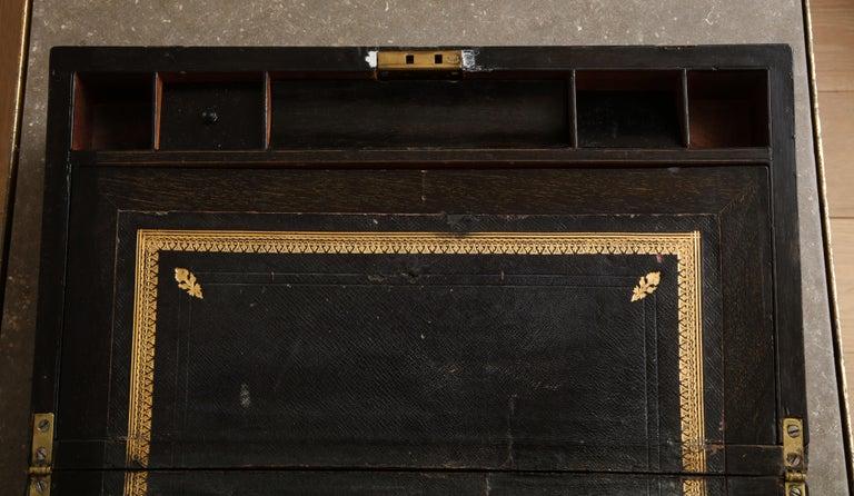 19th Century English Mahogany Military Campaign Writing Box For Sale 2