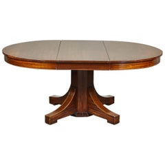 19th Century English Mahogany Pedestal Table