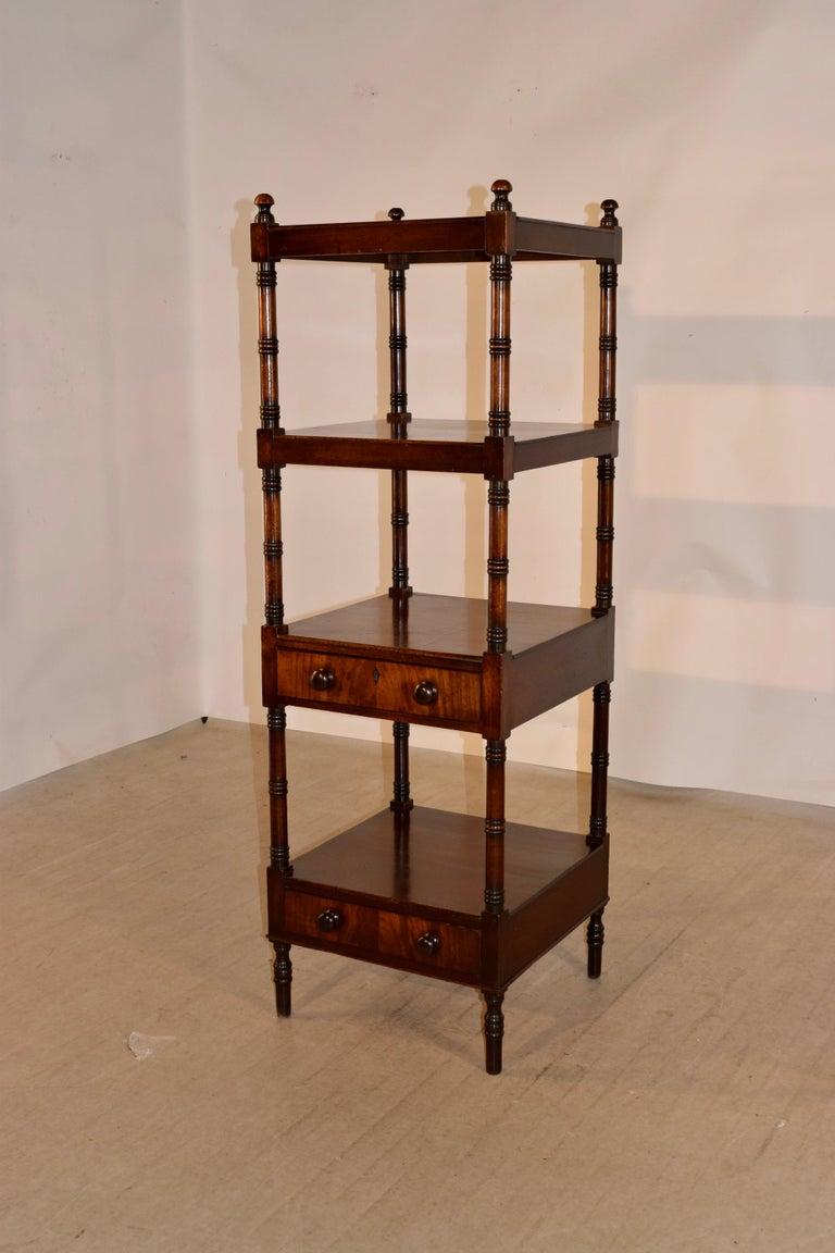 Victorian 19th Century English Mahogany Shelf For Sale