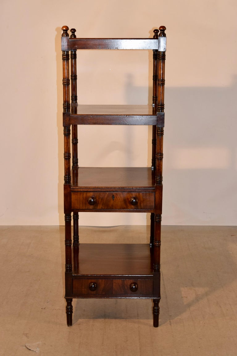 19th Century English Mahogany Shelf In Good Condition For Sale In High Point, NC