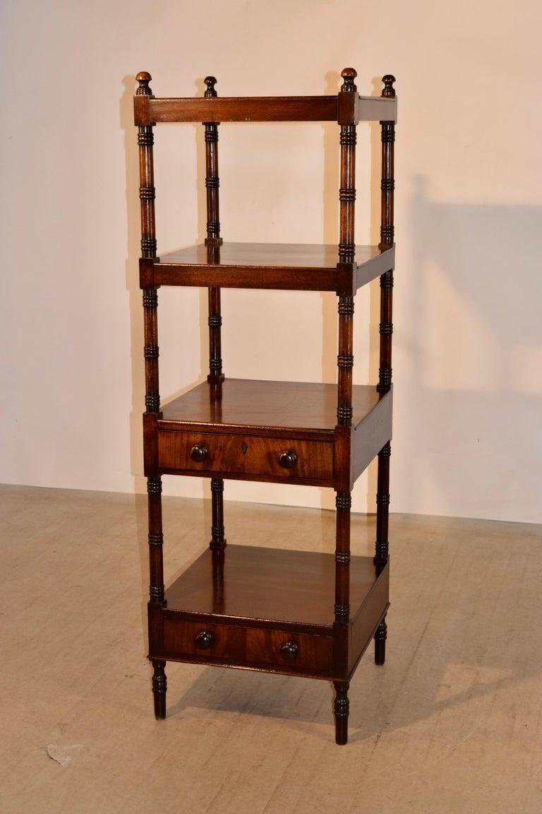 19th Century English Mahogany Shelf For Sale 1