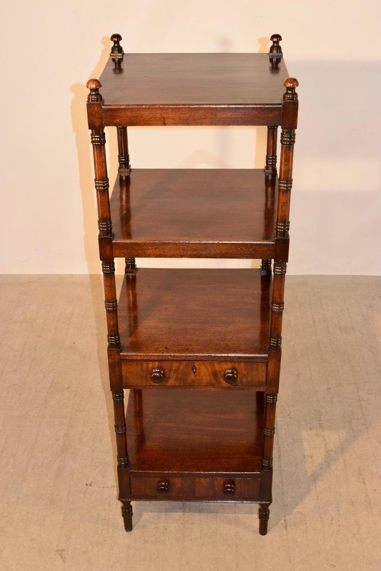 19th Century English Mahogany Shelf For Sale 2