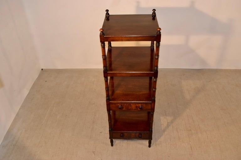 19th Century English Mahogany Shelf For Sale 3