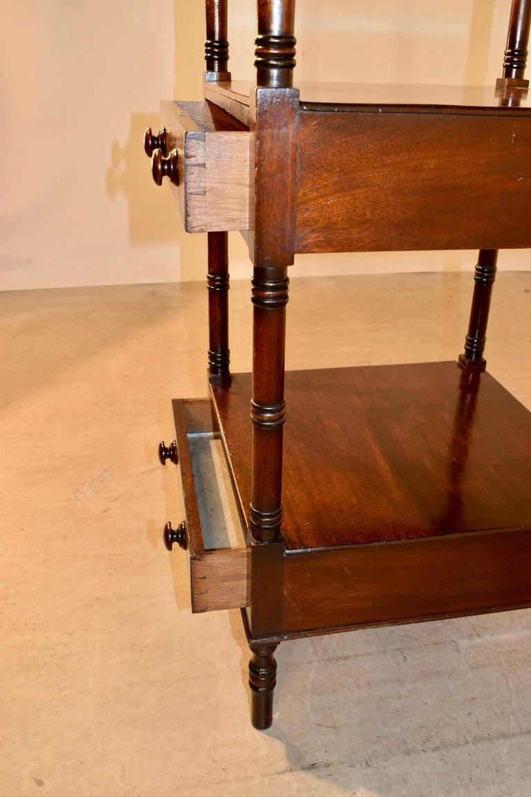19th Century English Mahogany Shelf For Sale 4