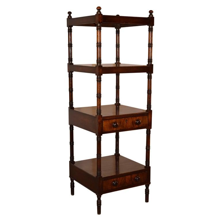 19th Century English Mahogany Shelf For Sale